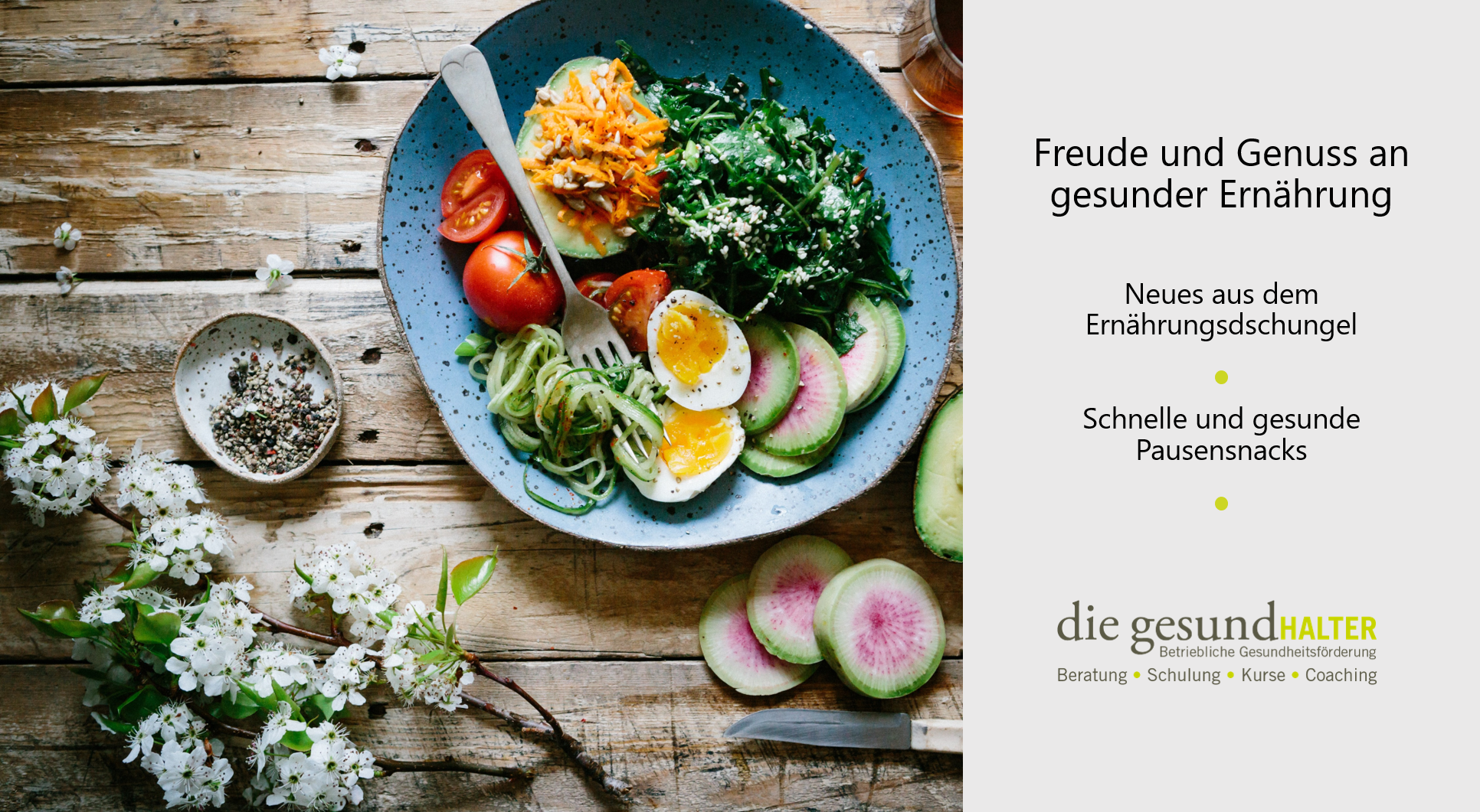 Freude und Genuss an gesunder Ernährung 2